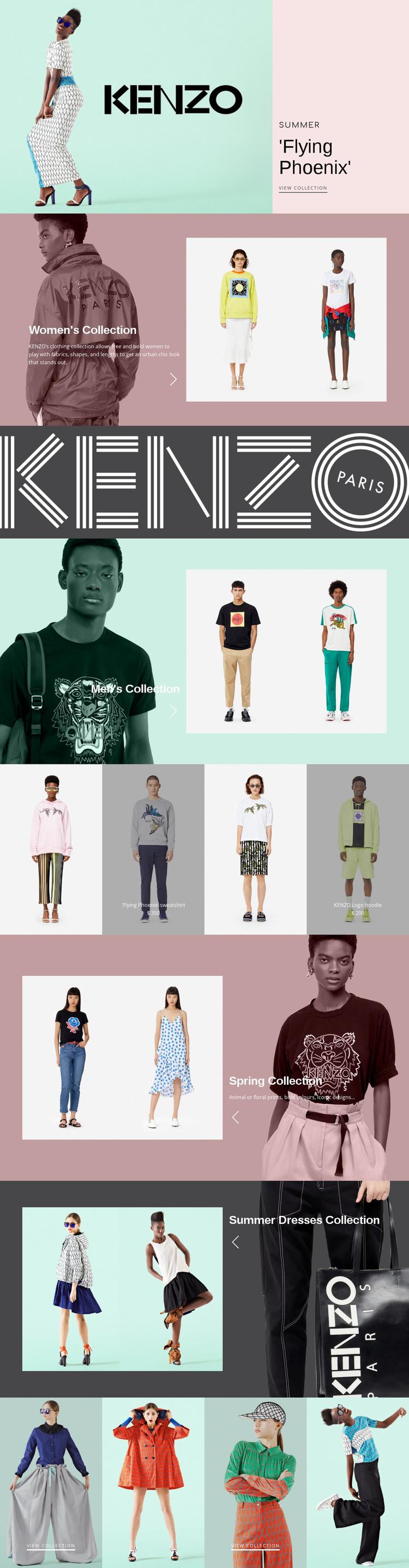 Atelier of modern fashion Landing Page