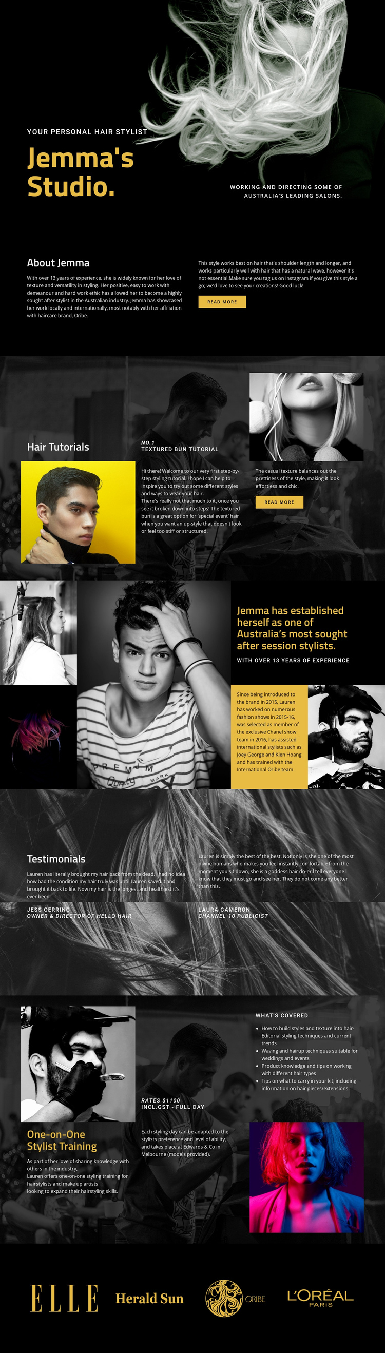 Winning ideas for fashion One Page Template