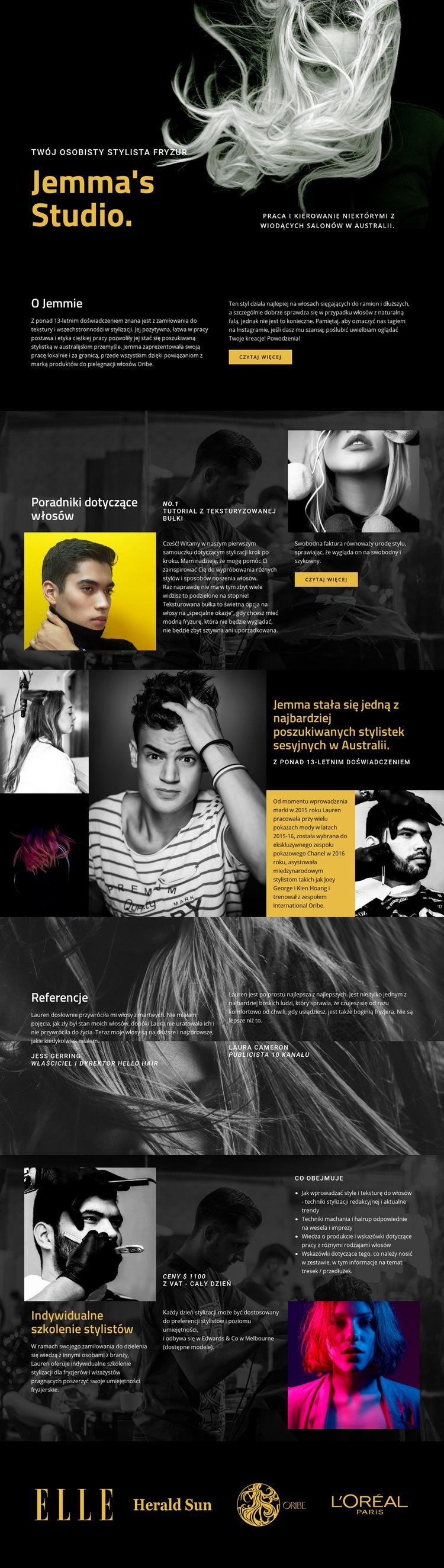 Zwycięskie pomysły na modę Szablon witryny sieci Web