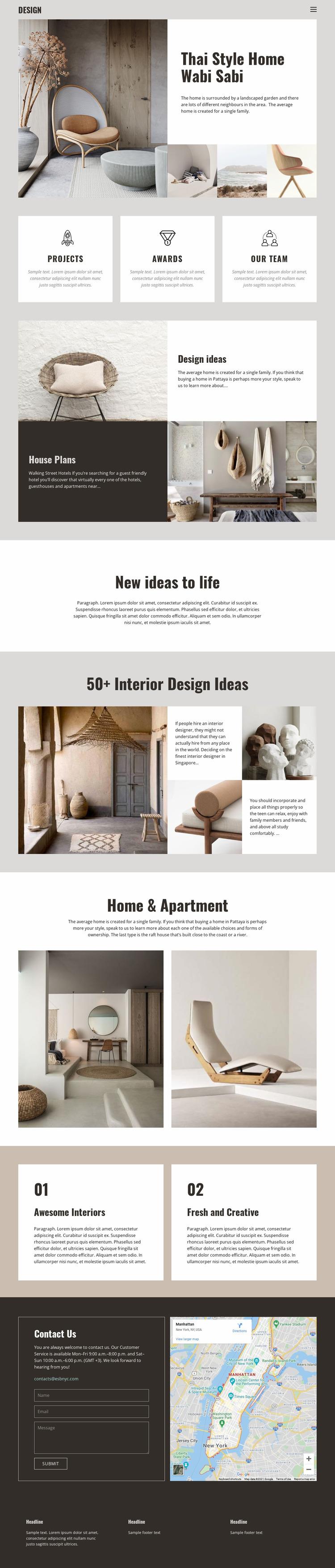 Thai style for home design Html Website Builder