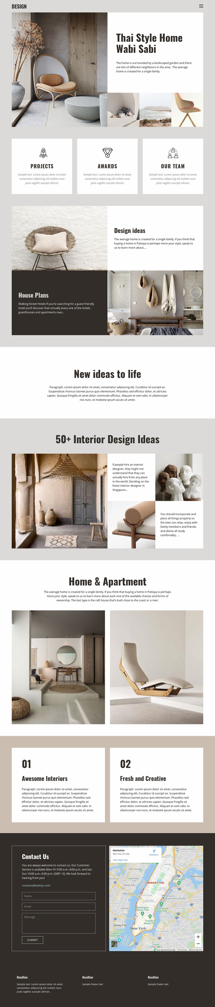 Thai style for home design Web Page Design