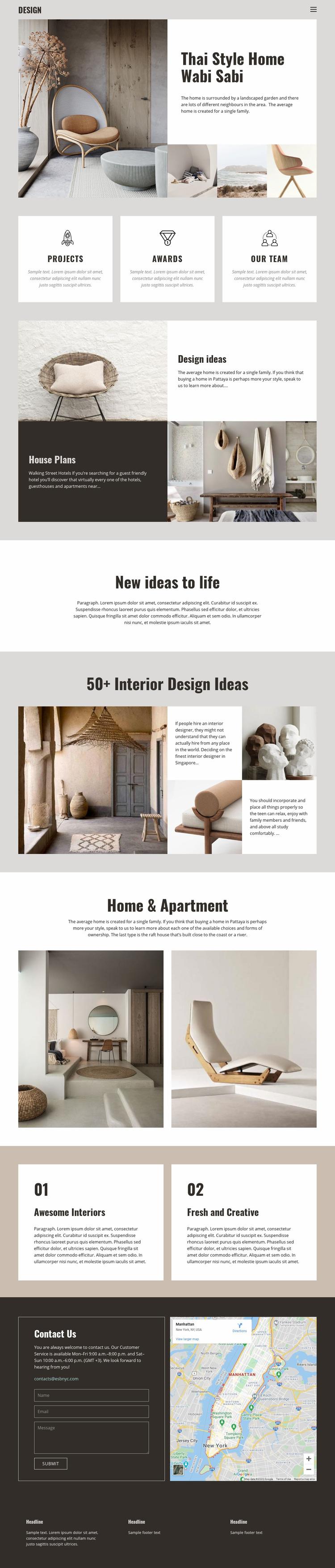 Thai style for home design Web Page Designer