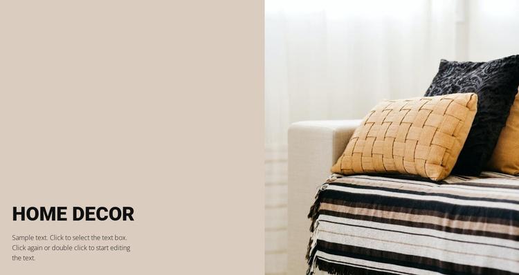 Furniture decor Website Template
