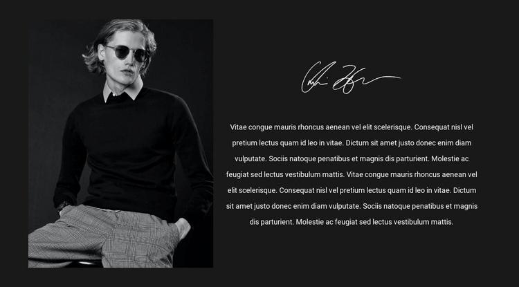 Men's fashion trendsetter Web Page Designer