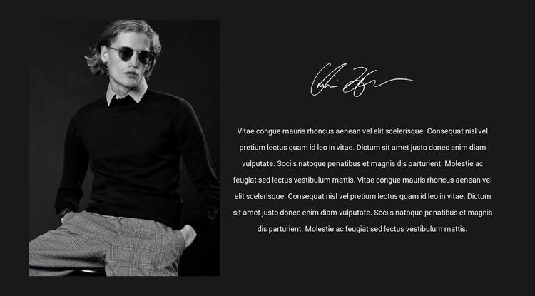 Men's fashion trendsetter Website Mockup
