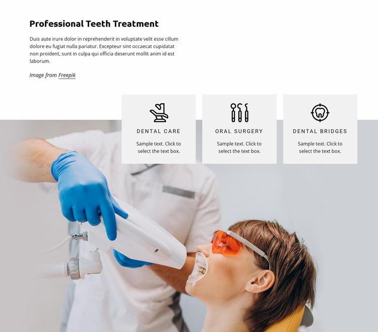 Teeth treatment Website Mockup