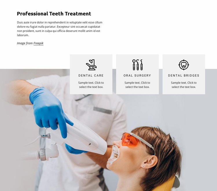 Teeth treatment Website Template