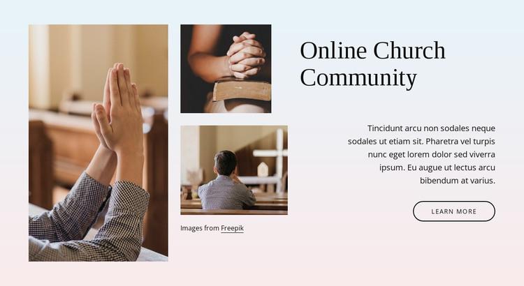 Church community HTML Template
