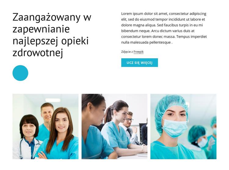 Najlepsza opieka zdrowotna Szablon witryny sieci Web