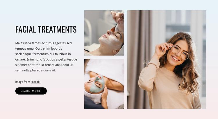 Best facial treatments Website Mockup