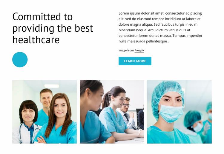 Best healthcare Website Template