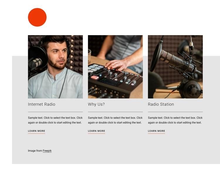 Radio talk show CSS Template