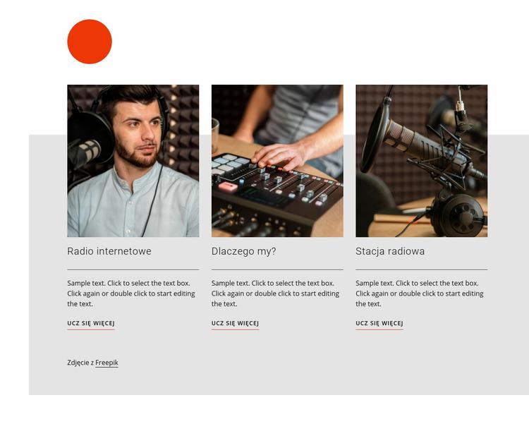 Radio talk show Szablon Joomla