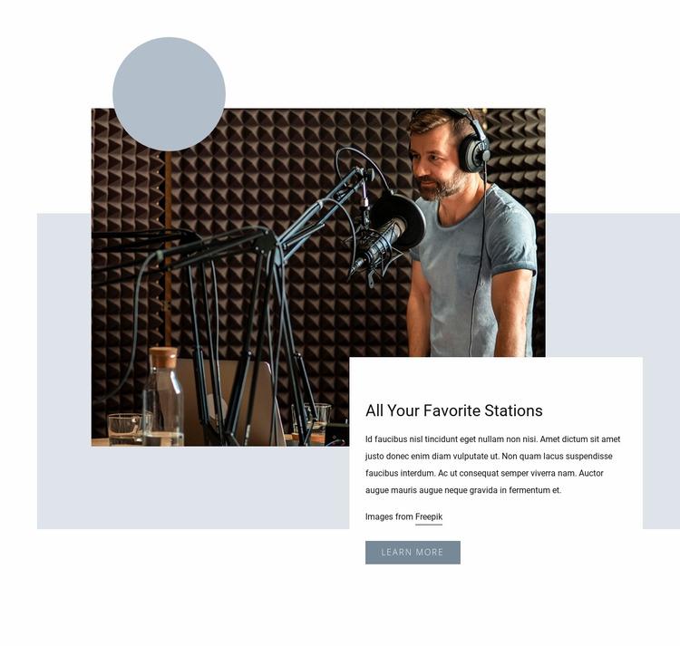 Popular radio show Website Mockup
