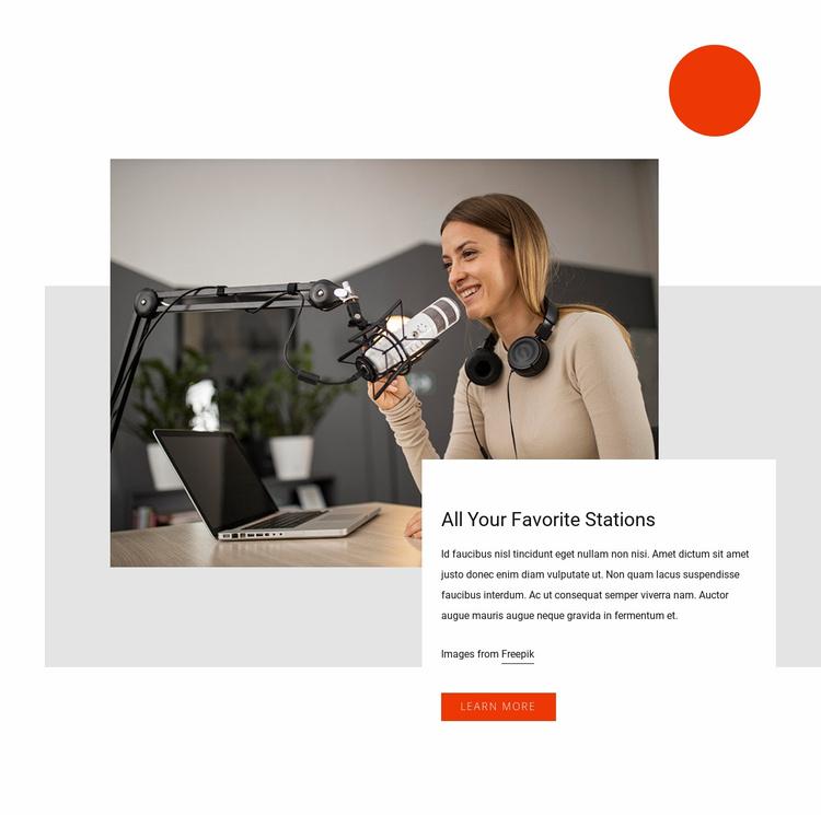 Best radio station Website Template