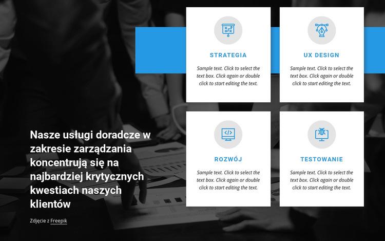 Najlepsze usługi konsultingowe Szablon witryny sieci Web