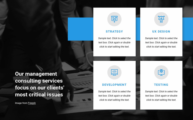 Top consulting services Website Template