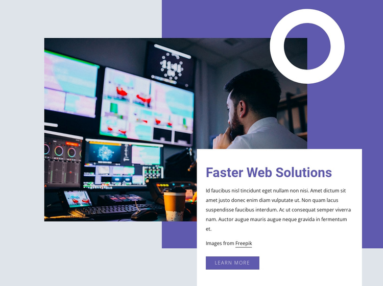 Faster web solutions One Page Template