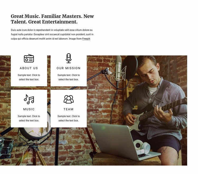 Great music radio Web Page Design
