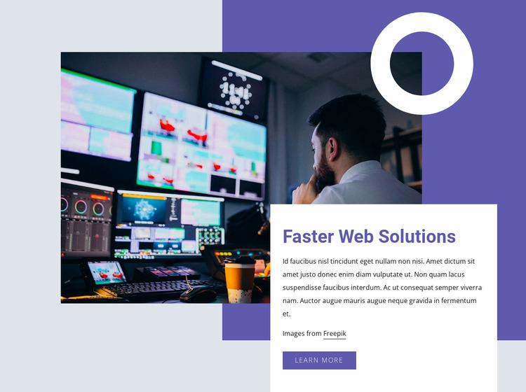 Faster web solutions Website Mockup