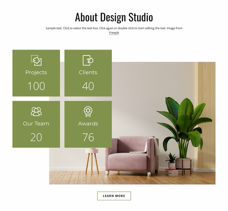 Design your cozy home Website Mockup