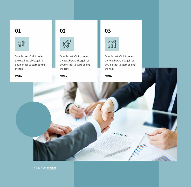 Successful negotiations Website Mockup