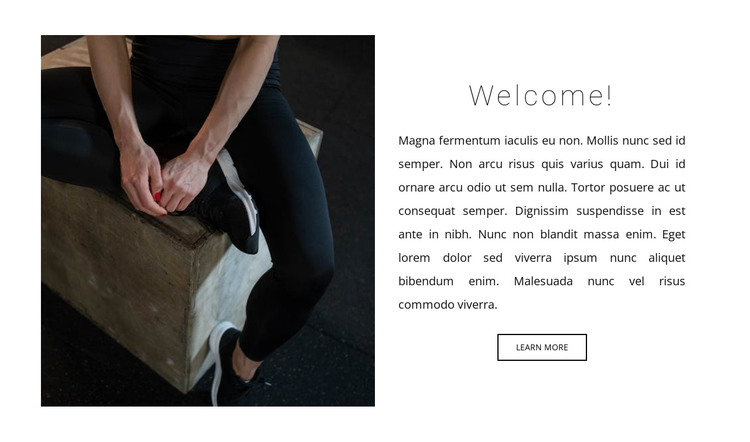 Crossfit classes with a trainer HTML Template