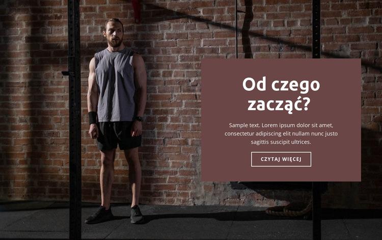Jak zacząć sport Szablon witryny sieci Web