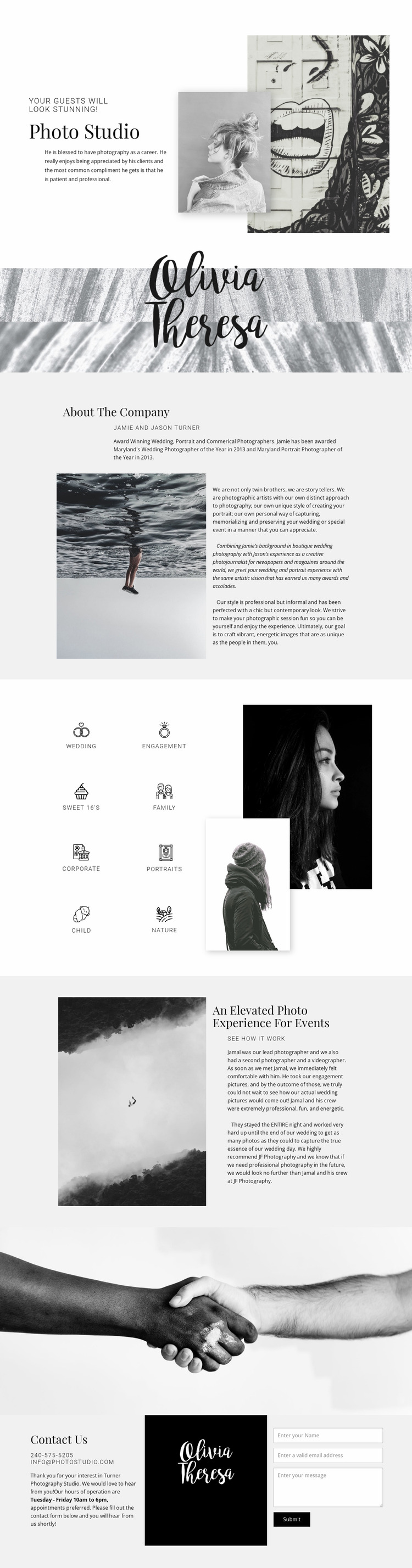 Ideas brought to live art Website Mockup