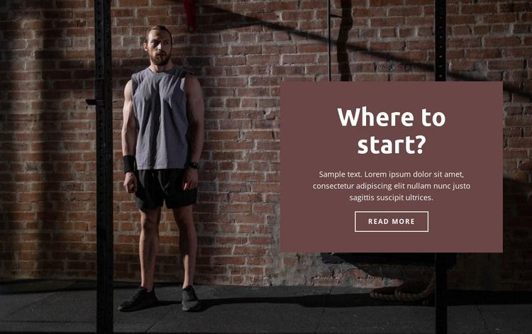 How to start a sport Website Template