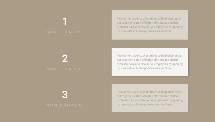 Three step-by-step plans HTML5 Template
