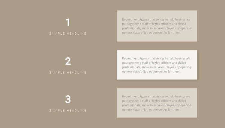 Three step-by-step plans Template