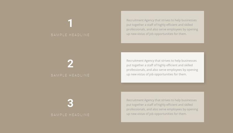 Three step-by-step plans Web Design