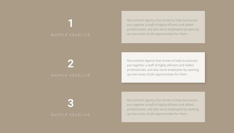 Three step-by-step plans Web Page Designer