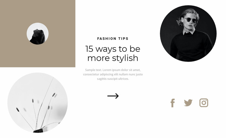 Consultation with a stylist Website Mockup