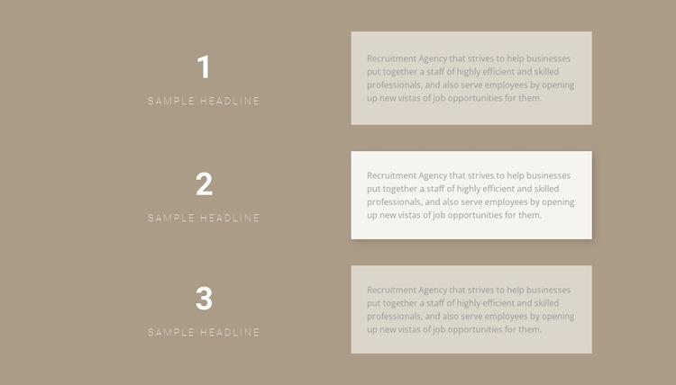 Three step-by-step plans Website Mockup