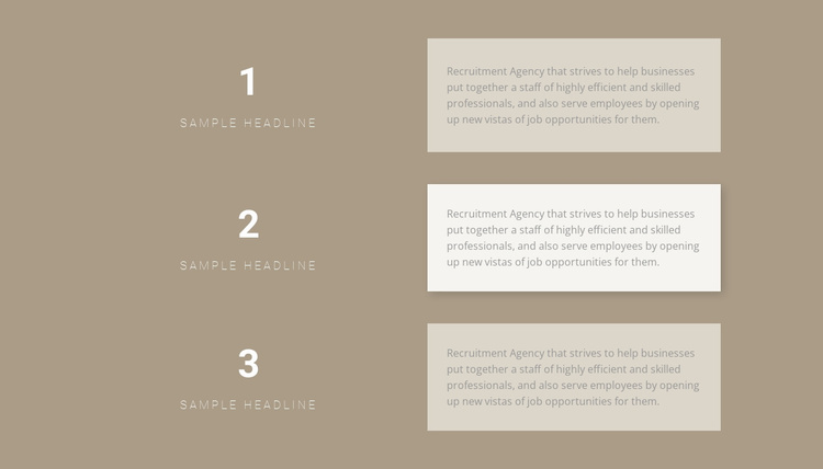 Three step-by-step plans Website Template