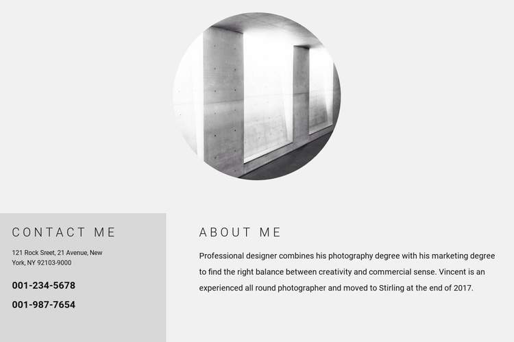 My details Website Template
