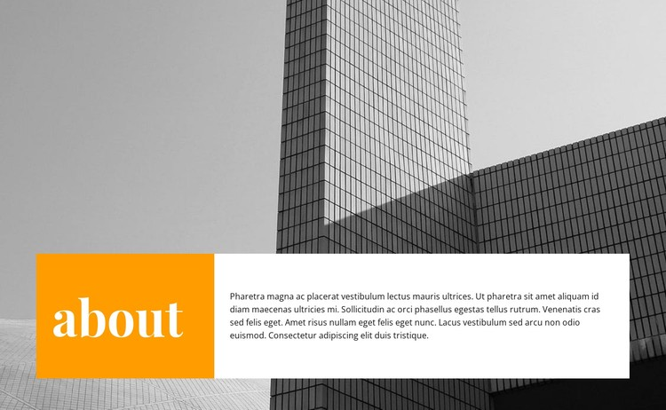 About the construction of business centers CSS Template