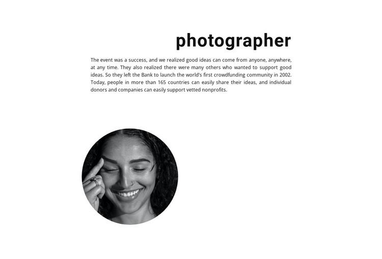 Stock Photographer Html Code Example