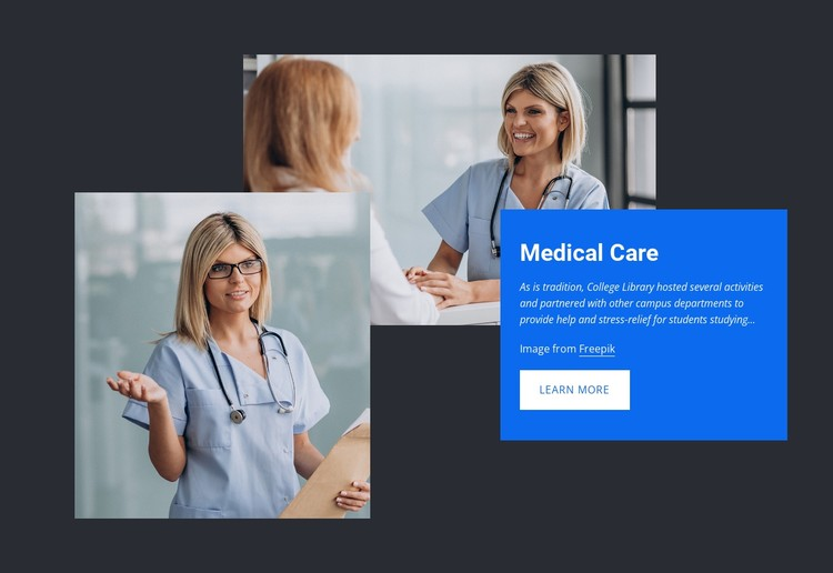 High-quality health care CSS Template