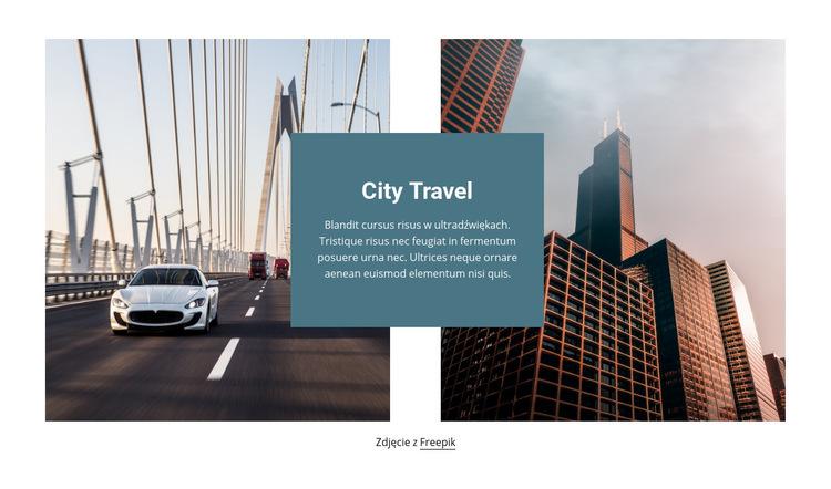 Podróże po mieście Szablon witryny sieci Web