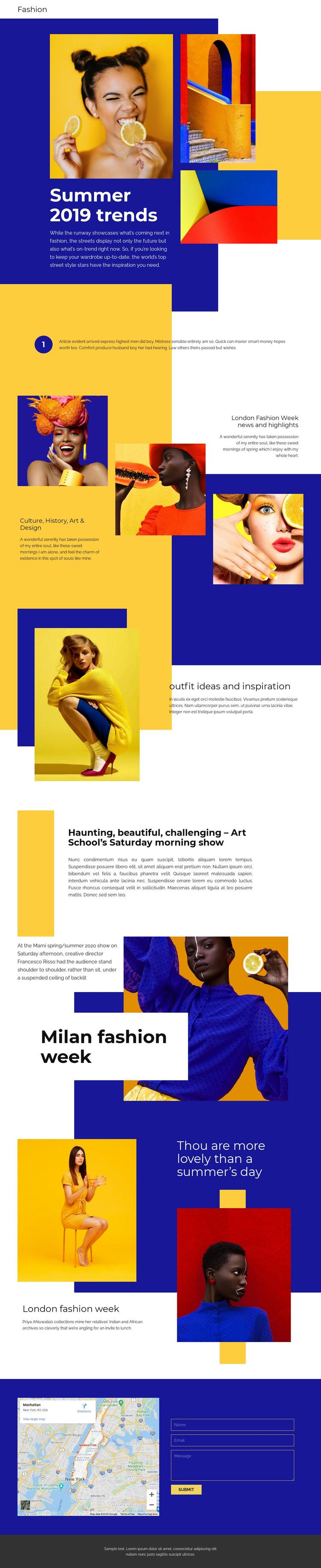 Summer Trends WordPress Website