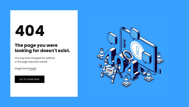 404 page not found Joomla Template