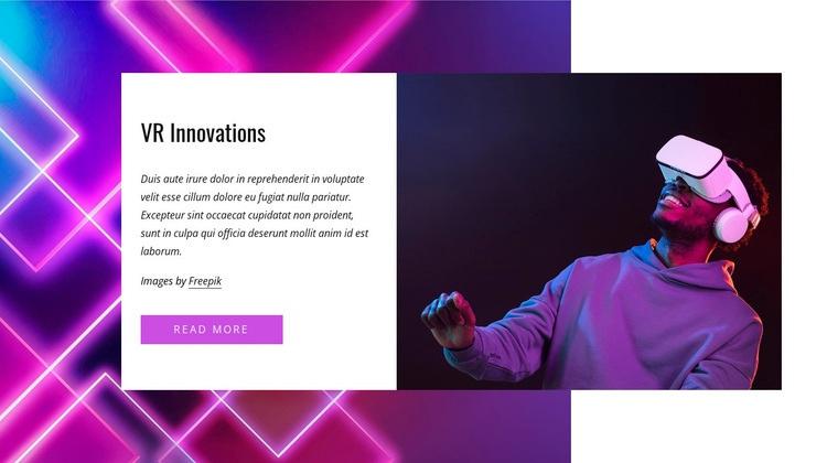 Top VR innovations Web Page Designer