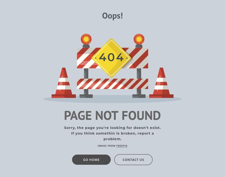 404 error page Website Builder Software