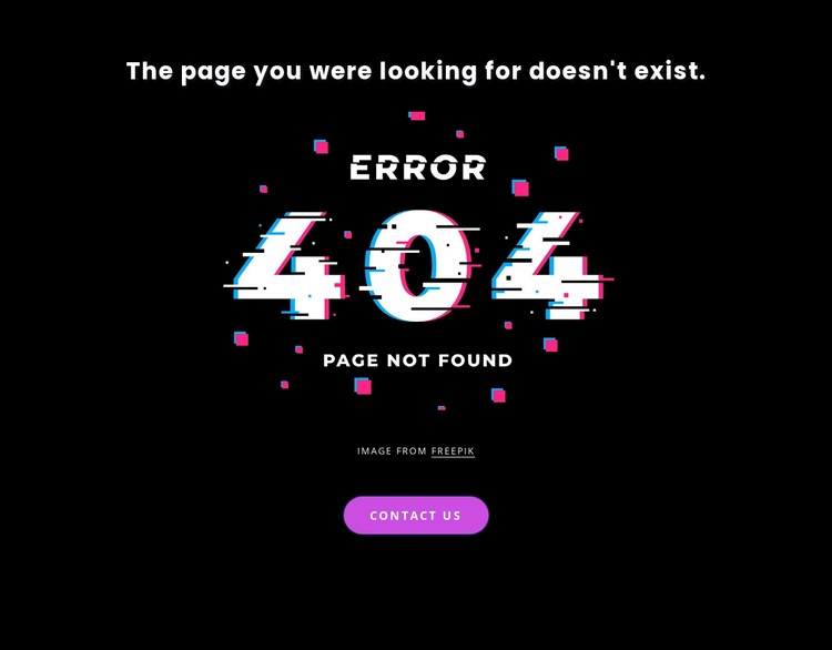 404 not found error message Html Code Example