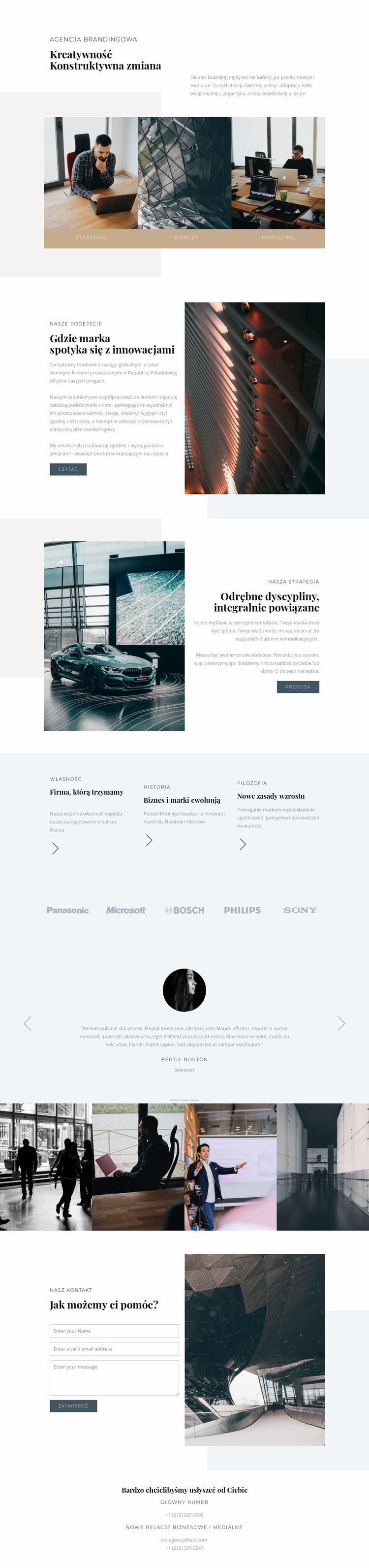 Rozwój nowoczesnego biznesu Szablon witryny sieci Web