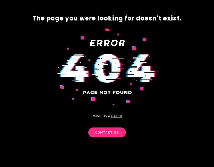 404 not found error message Web Page Designer