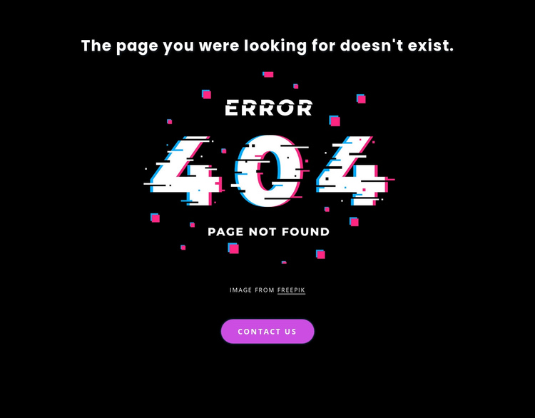 404 not found error message Website Builder Software